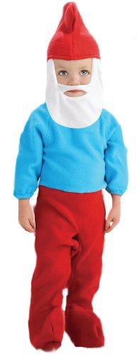 The Smurfs Movie Papa Smurf Romper Costume, Blue, 6-12 Months - 1