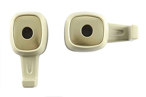 2 x Lilware Universale Auto Poggiatesta Mini Hanger. Confezione da 2 Backseat Ganci Per Il Sacchetto / Bagagli / Abbigliamento / Borsetta / Borsa Della Palestra. Multifunzionale Comodo e Leggero Auto Organizer. Beige
