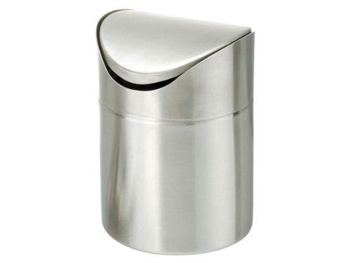 Zeller 27269 Pattumiera basculante in acciaio INOX 12x16 cm
