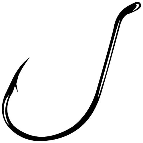 Gamakatsu  Black Octopus Hook, 100 Pack, Size: 3/0