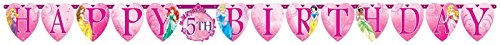 Amscan Disney Sparkle Princess Birthday Celebration Party Jumbo Add An Age Letter Banner, 10 1/2', Pink - 1