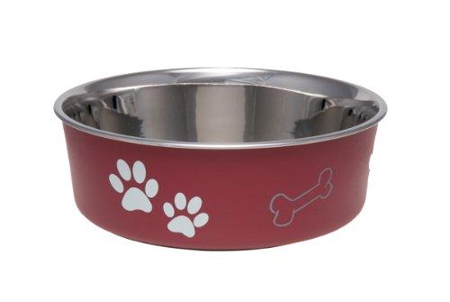 Loving Pets Bella Bowl for Pets, Small, 1-Pint, Merlot