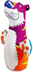 Hit Me Intex Children's Kids Cartoon Inflatable 3D Punching Bop Bag - For Age 3+ (Colours & Cartoon Character as per Availability)