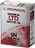 HONDA/ホンダ純正エンジンオイル ウルトラ LTD SN 5W30/5W-30 4L缶x6本セット