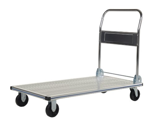 Vestil AFT-48-NM Aluminum Folding Platform Truck with Single Handle and 6