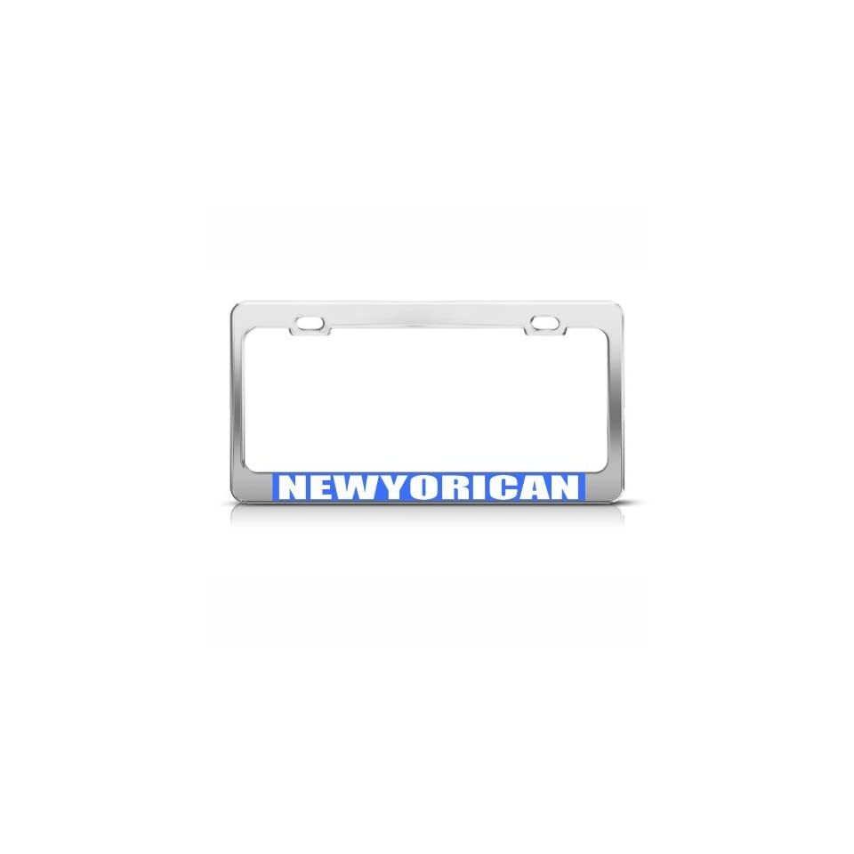 Newyorican New York Puerto Rico License Plate Frame Tag Holder Sports & Outdoors