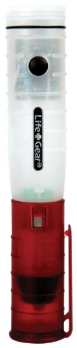 Life Gear Lg402 Glow Auto Cl Rechargeable Emergency Led Flashlight, White/Red