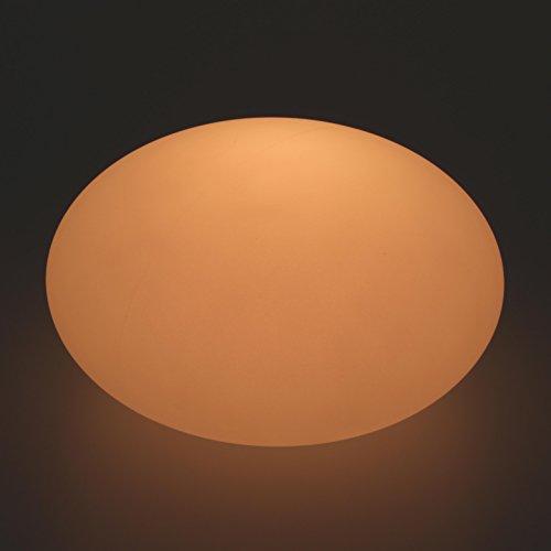 edle led flachkugel designerlampe leuchtkugel 40 x 20 cm multicolor rgb mit farbwechsel und. Black Bedroom Furniture Sets. Home Design Ideas