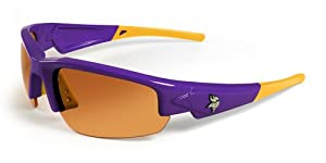 NFL Minnesota Vikings Dynasty Sunglasses with Bag, Purple Yellow by Maxx
