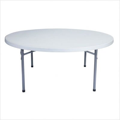 "National Public Seating Blow Molded Folding Table 48"" Round"