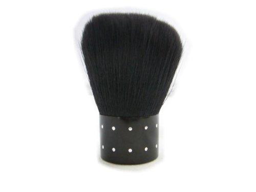 ネイル用品 ダストブラシ ストーン付き超軽手触り 黒