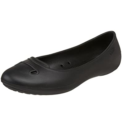 Amazon Crocs Women Mccall Ballet Flat Black Shoes
