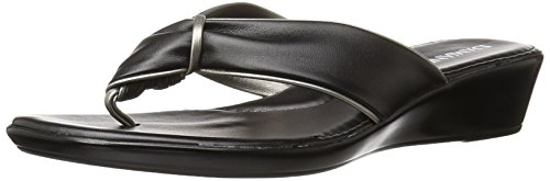 Italian Shoemakers Women's 202m Wedge Sandal, Black, 8 M US (Italian Shoes For Women Wedge compare prices)