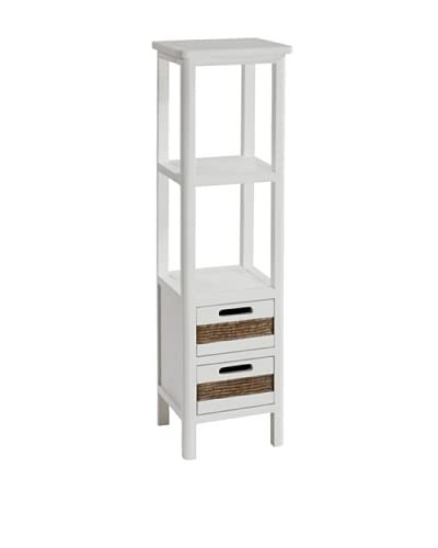 Gallerie Décor Bali Two Drawer Tower, White