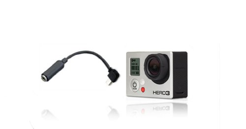 3.5Mm Mic Adapter Cable For Gopro Hero3 Camera (Mini Usb To 3.5Mm Jack )