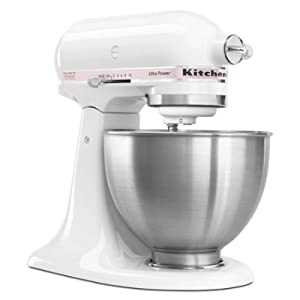 KitchenAid KSM95PWH - Ultra Power Series Mixer, 4-1/2 Qt, White w/ Komen Pink Band