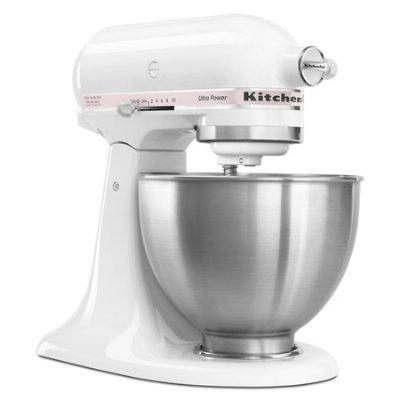 KitchenAid KSM95PWH – Ultra Power Series Mixer, 4-1/2 Qt, White w/ Komen Pink Band On Sale
