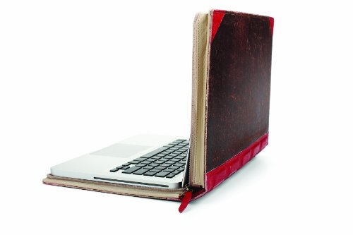 Twelve South BookBook 13 inch Hardback Leather Case for 13 inch MacBook/MacBook Pro - Red