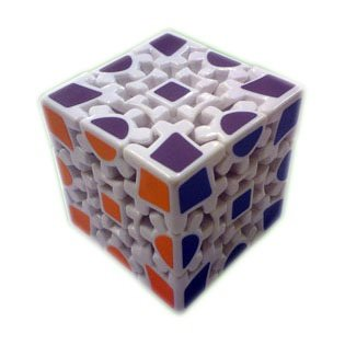 White TS Gear Cube Puzzle - 1