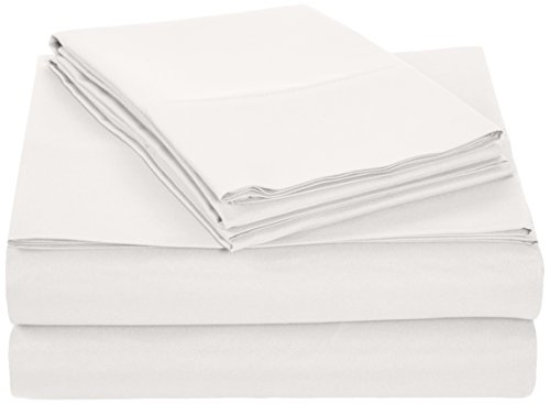 Sale!! AmazonBasics Microfiber Sheet Set - Queen, Ivory White