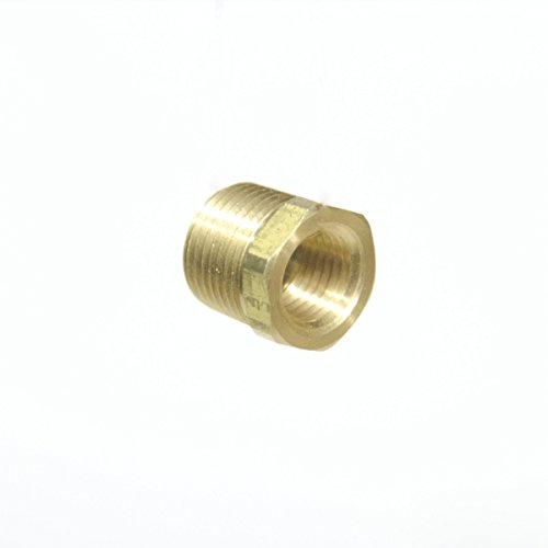 FasParts 3/8″ NPT Male NPT MIP MPT x 1/4″ NPT Female FIP FPT Reducer Bushing Brass Fitting Fuel / Air / Water / Boat / Gas / Oil WOG