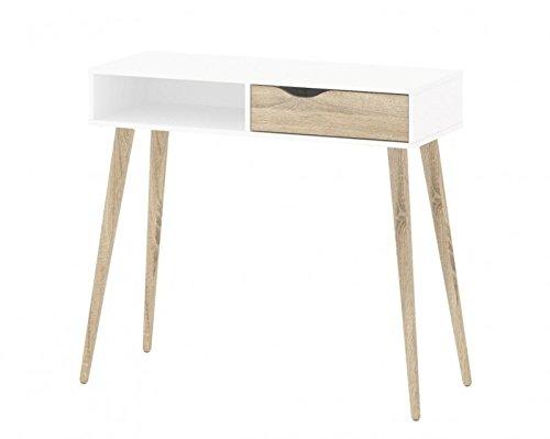 Scrivania Delta tavolino console tavolo TAVOLINO spinta situazione ripiano in legno di quercia struttura