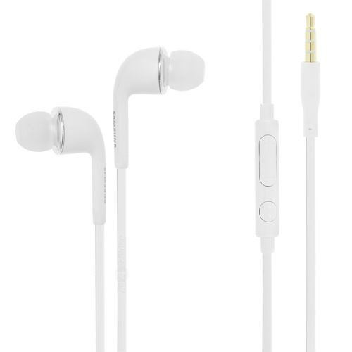 Samsung 3.5Mm Stereo Headset With Volume Key For Galaxy S4 - Non-Retail Packaging - White