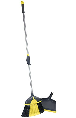 Casabella 86012 Height Adjustable Duster Broom with Dustpan (Small Bristle Broom compare prices)
