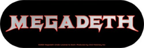 Licenses Products Megadeth Logo Sticker