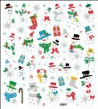 Tattoo King SK129MC-1271 Multicolored Sticker, Glitter Snowmen