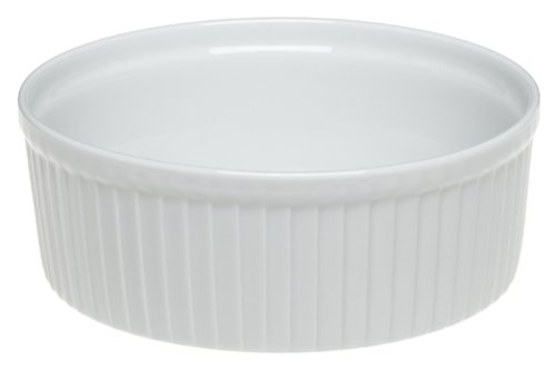 Pillivuyt Porcelain 6-Cup, 7-1/4-Inch Classic Pleated Souffle Dish