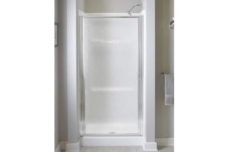 "Sterling 950C-24S Standard Shower Door Pivot 64""H x 23-1/2 - 25""W Hammered Glass Silver"