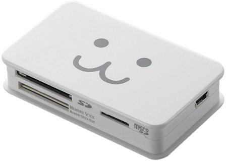 ELECOM メモリリーダライタ SD+MS+CF対応 ホワイトFACE MR-A39HWHF1 / エレコム