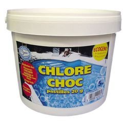 chlore choc pastilles 20g 5kg ecogene sports et loisirs. Black Bedroom Furniture Sets. Home Design Ideas