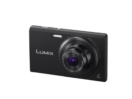 Panasonic Lumix DMC-FS50EB-K Compact Camera - Black (16.1MP, 5x Optical Zoom, Super Slim Design, 24mm Ultra Wide Angle, HD Video Recording, Micro SD) 2.7 inch LCD