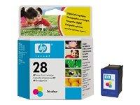 HP - 28 - Cartouche d'encre d'origine couleur - Cyan/Magenta/Jaune - 240 pages