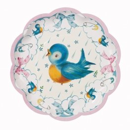 Pretty Baby Shower Plates, Set Of 8