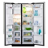 Haier HRF-663CJB - Black American Style Fridge Freezer, Class A+, Total No Frost, Water and Ice Dispenser, Top LED lighting system