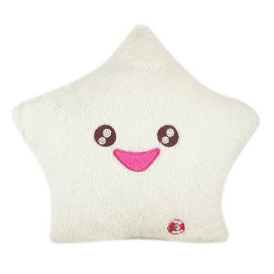 Discover Bargain Amico Smile Star Design Color Changing LED Light Toss Thrown Pillow White