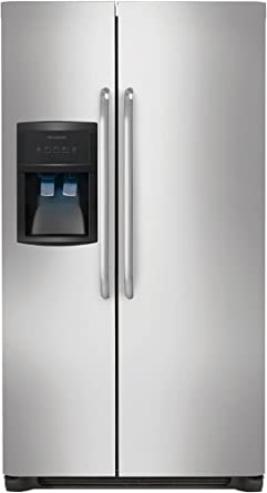 """Frigidaire FFHS2622MS 36"""" 26 cu. ft. Side-by-Side Refrigerator in Stainless Steel"""