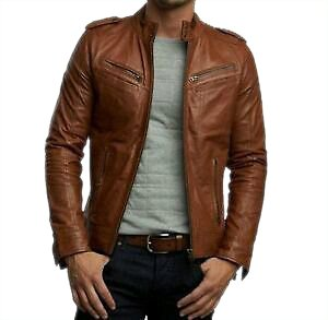Corium Men's Jacket (Style1_Brown_Small)
