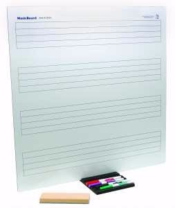 "West Music 24"" x 24"" Dry Erase Staff Board"