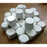 Blank Dice pack of 30 Re-writeable White