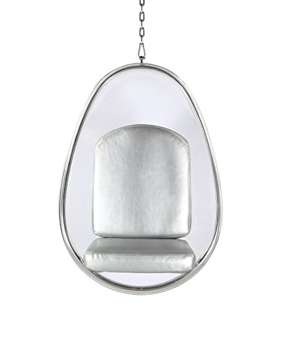 Manhattan Living Balloon Hanging Chair, Silver