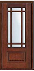 Hurricane French Single Door 80 Fiberglass Marginal 9 Lite Marginal 6 3 0 Entry Doors