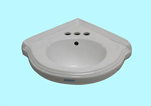 Fantastic Deal! corner sink White Vitreous China, Portsmouth Corner Sink White 7 in. H x 22 in. W