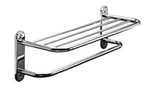 Taymor%20Industries%20USA Taymor Chrome 24in.Towel Shelf with Single Bar and Semi-Concealed Screw Mount