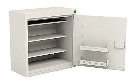 Bott Drug Cabinet, Metal, White, 600 x 300 x 600 mm