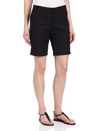 Dickies Women's Flat Front Short,Black,4