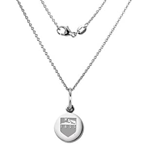 Penn State Sterling Silver Necklace with Silver Charm by M.LaHart & Co.